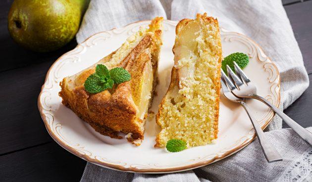 Самый простой пирог с грушами