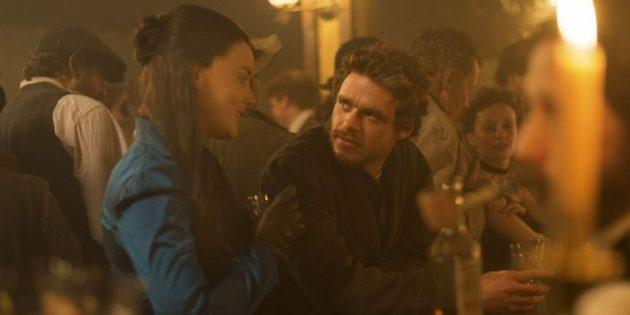 Кадр из сериала-вестерна «Клондайк»