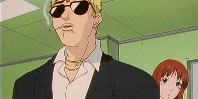 Кадр из аниме «Крутой учитель Онидзука»