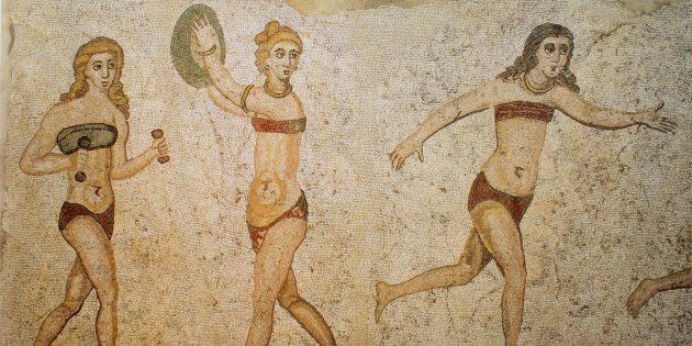 Женщины Древнего Рима в набедренных повязках