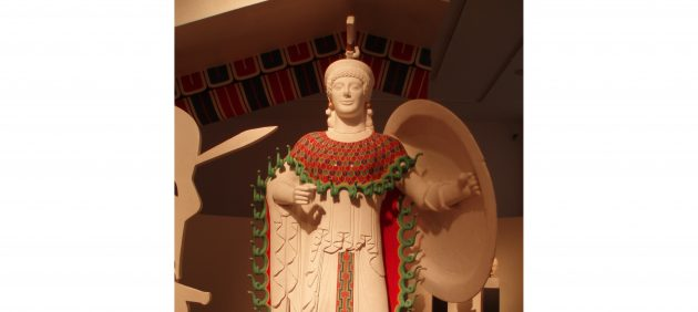 Древняя Греция: цветная статуя Афины