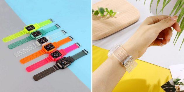 Прозрачный ремешок для Apple Watch