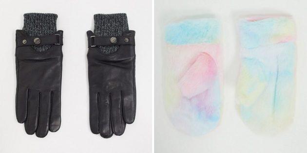 Тёплые варежки или перчатки