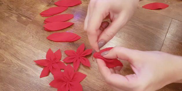 Сделайте цветы