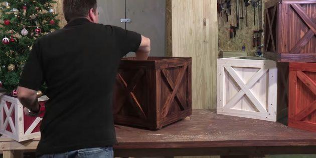 Покрасьте ящик