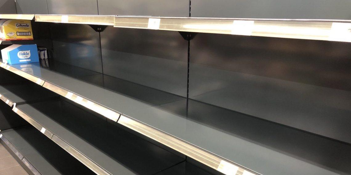 Коронавирус в Германии: полки магазинов во время первой волны