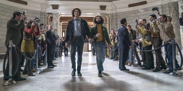 Кадр из фильма «Суд над чикагской семёркой»