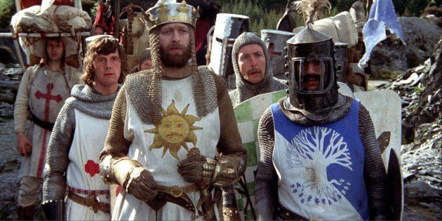 Фильмы про рыцарей: «Монти Пайтон и священный Грааль»