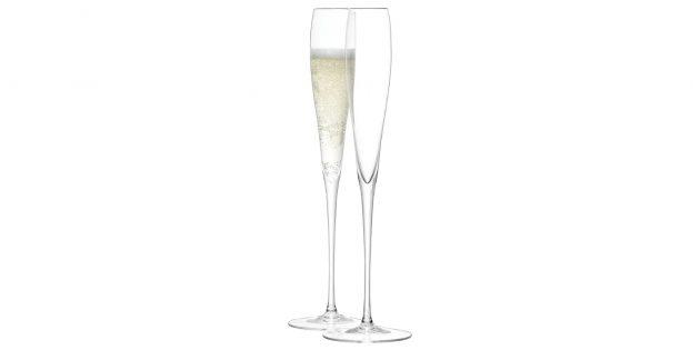 Фужеры для шампанского на тонкой ножке
