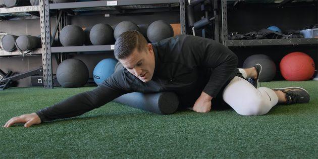 Упражнения с массажным роликом для исправления осанки