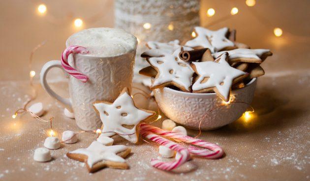 Имбирное печенье с ромовой глазурью
