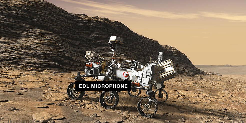 NASA опубликовала аудиозапись с марсохода