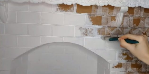 Как сделать декоративный камин своими руками: окрасьте камин белой матовой краской