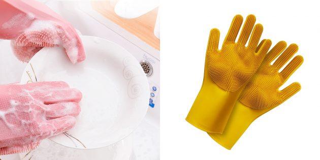 Перчатки для мытья посуды