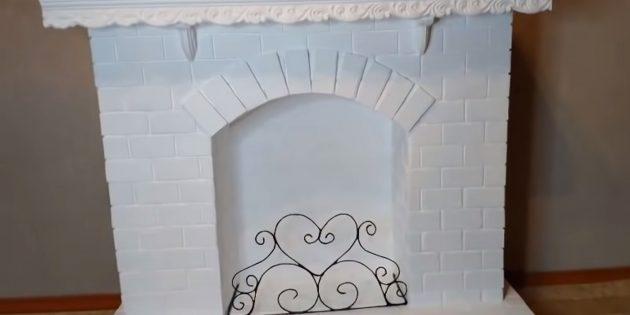 Декоративный камин своими руками: установите на место решётку и задекорируйте камин на своё усмотрение