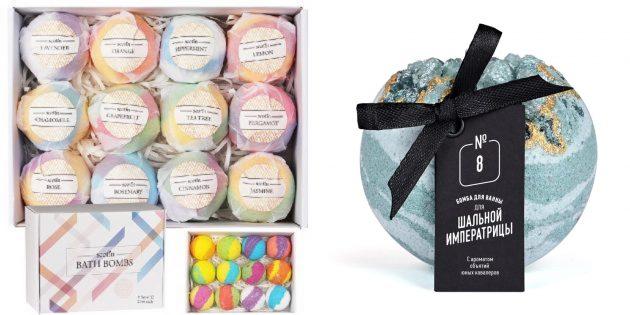 Подарки для тех, кто плохо переносит холод: бомбочки для ванны