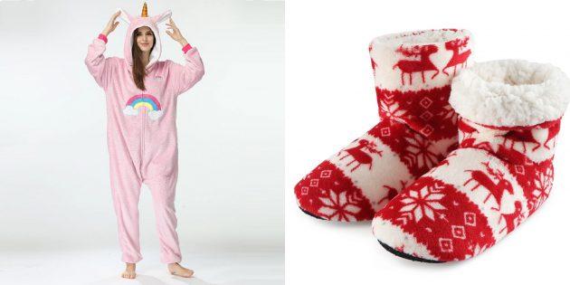 Подарки для тех, кто плохо переносит холод: уютная домашняя одежда и обувь