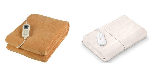 Подарки мужчине на Новый год: одеяло с подогревом
