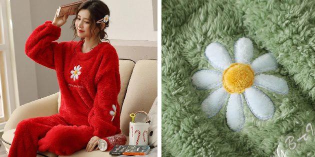 Уютная домашняя одежда с AliExpress: плюшевый костюм