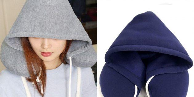 Странные товары с AliExpress: подушка для шеи с капюшоном