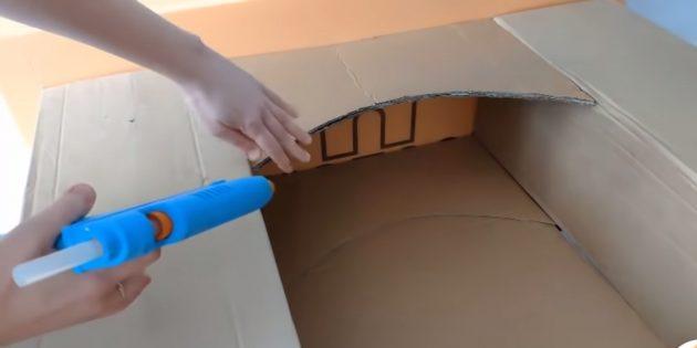 Декоративный камин своими руками: закрепите арки под каминной полкой