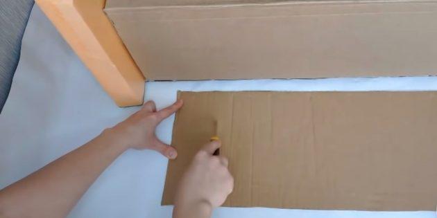 Как сделать декоративный камин: вырежьте прямоугольный свод для арки