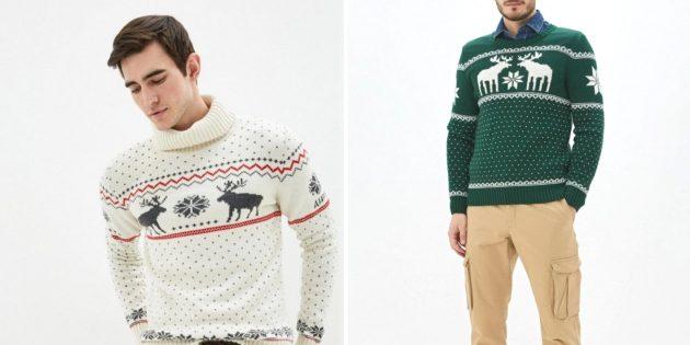 Что подарить мужу на Новый год: свитер с оленями