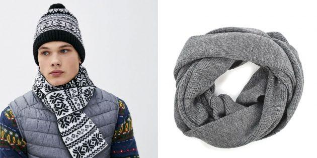Что подарить мужу на Новый год: шапка и шарф
