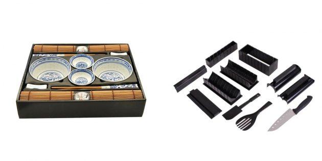 Подарки жене на Новый год: набор для суши