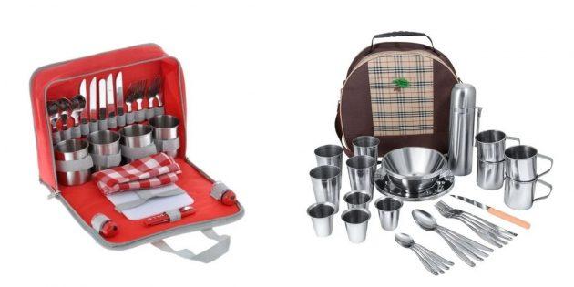 Что подарить жене на Новый год: набор посуды для пикника