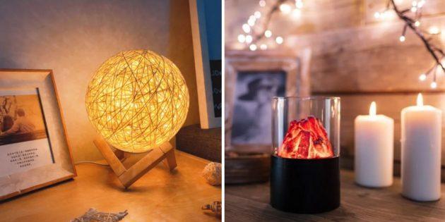 Подарки жене на Новый год: декоративный светильник