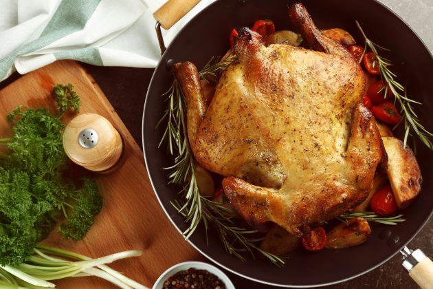 Курица, фаршированная фетой и вялеными помидорами