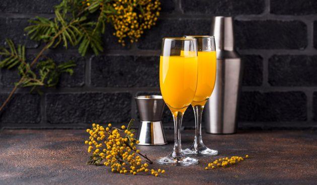 Алкогольный коктейль «Мимоза»