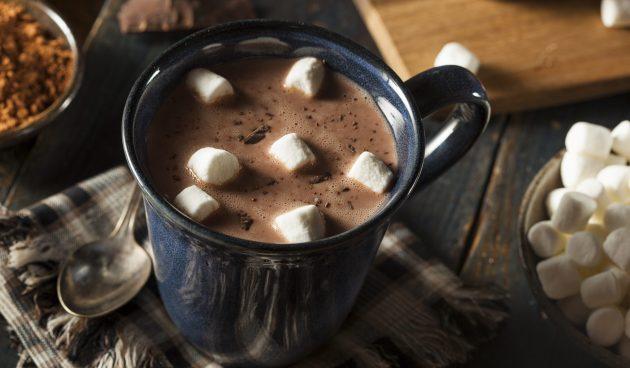 Какао с шоколадной бомбой