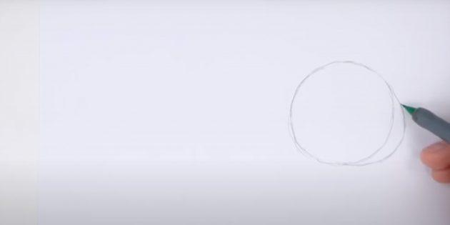 Как нарисовать кролика: изобразите изогнутую линию