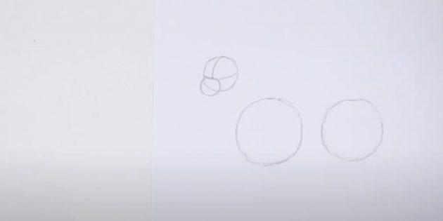 Как нарисовать оленя: нарисуйте четвёртый круг