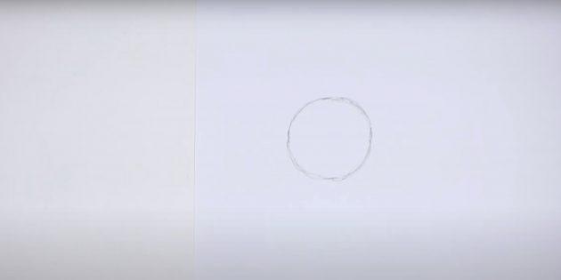 Как нарисовать пингвина: нарисуйте круг