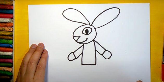 Как нарисовать зайца: нарисуйте руки