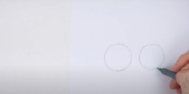 Как нарисовать оленя: нарисуйте второй круг