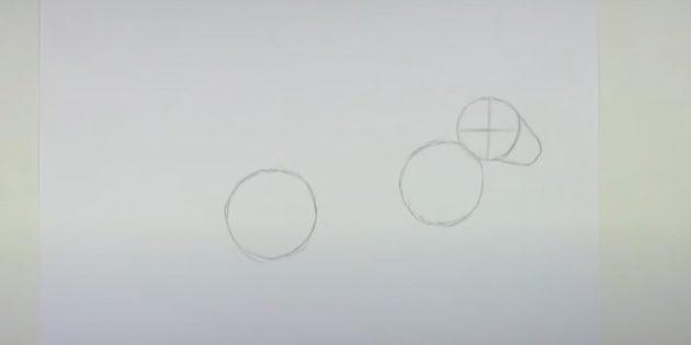 Как рисовать зайца: обозначьте морду
