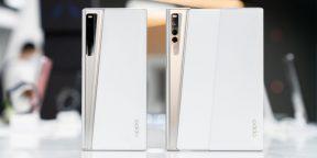 OPPO показала растягивающийся смартфон и новые AR-очки