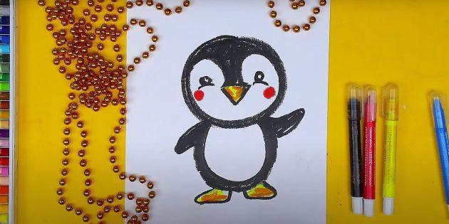 Раскрасьте пингвина