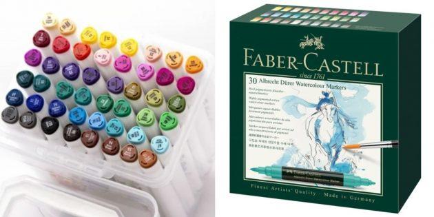 Подарки девочке на Новый год: набор профессиональных маркеров