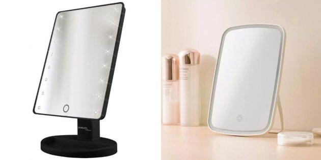 Умное зеркало для макияжа с подсветкой