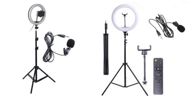 Подарки девочке на Новый год: набор блогера со штативом и микрофоном