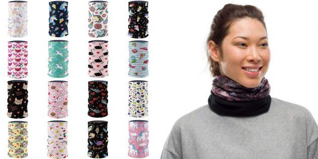Подарки девочке на Новый год: красивая повязка-бафф