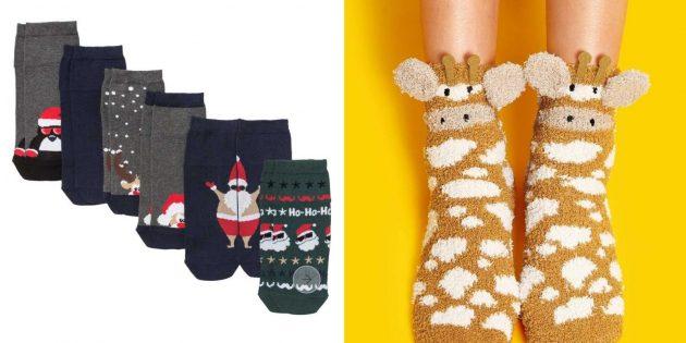 Что подарить сестре на Новый год: тёплые носки