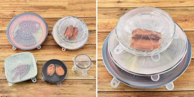 Товары для кухни: силиконовые крышки