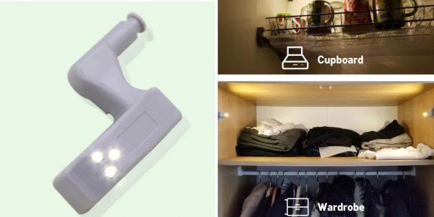 Товары для кухни: подсветка в шкаф