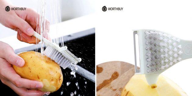 Товары для кухни: щётка для картофеля